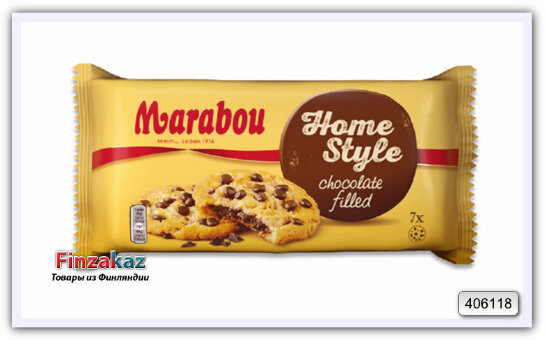 Печенье Marabou Home Style choclate filled cookies 182 гр