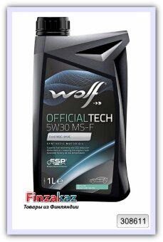 Синтетическое моторное масло Wolf 5W-30 MS-F Official Tech 1 л