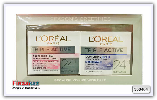 Подарочный набор L'Oréal Paris Triple Active Day + Night cream